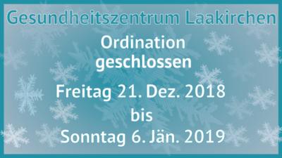 Gesundheitszentrum-Laakirchen-Ordination-geschlossen-21-Dez-6-Jan-2018
